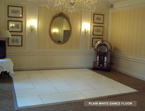Plain White Dance Floor Hire