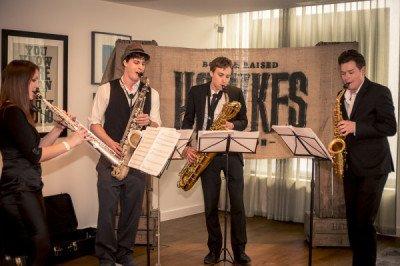 Saxophone Quartet at Product Launch
