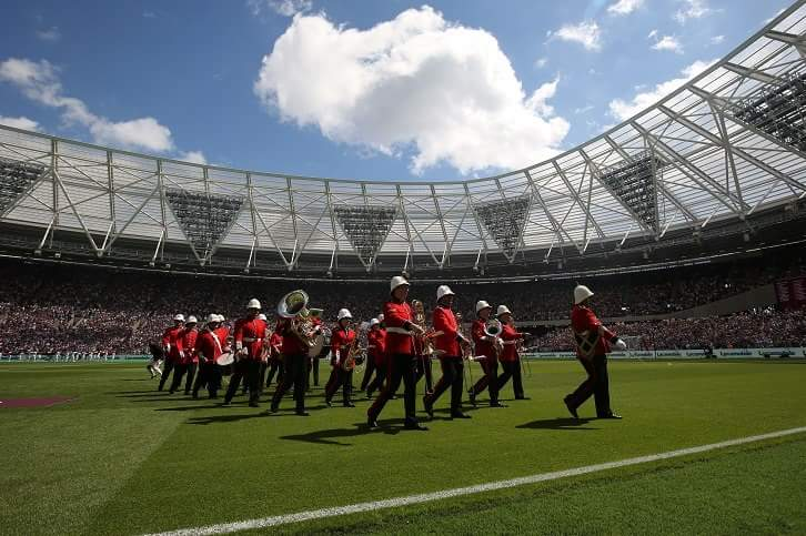 London Military Marching Brass Band for Football Matches