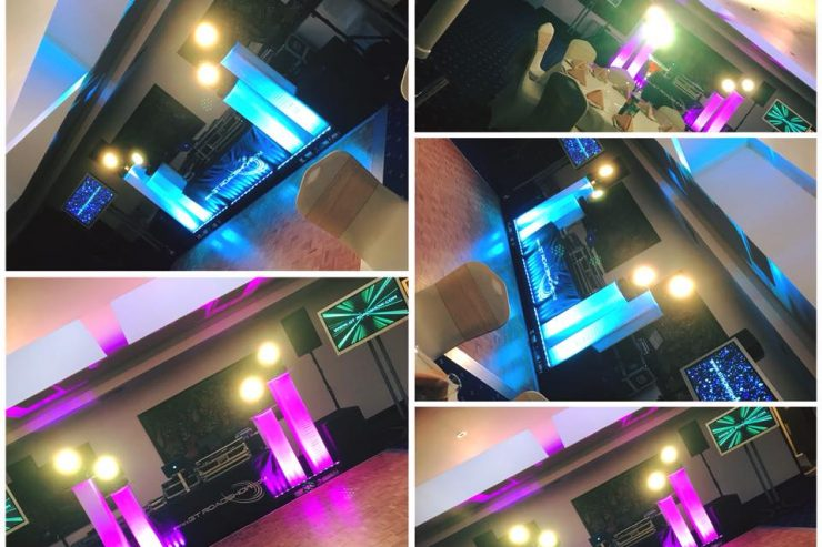 DJ & Mobile Disco + LED Dance Floor + Star Cloth + Moving Lights